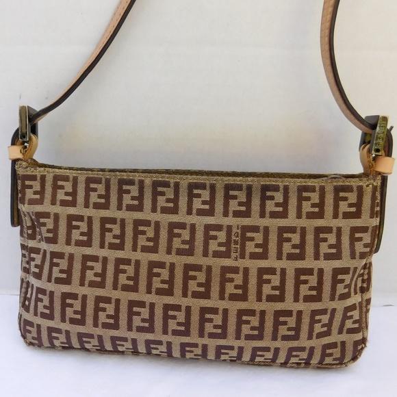 3d172f619920 FENDI Handbags - AUTHENTIC Vintage Fendi Zucca Small Baguette